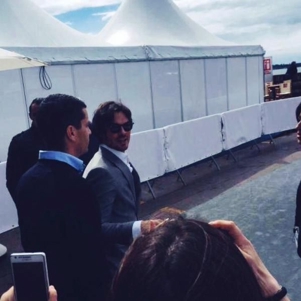 Arriving Newlyweds Nikki Reed & Ian Somerhalder for Promotional AZZARO Event #CANNES2015 #AZZARO   #AZZAROPOURHOMME (05/21/15)