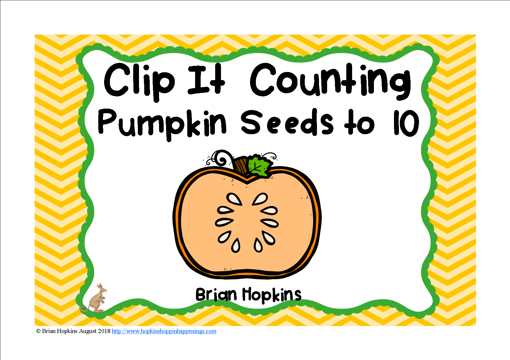Counting Pumpkins Seeds To 10 Clip It Has Students