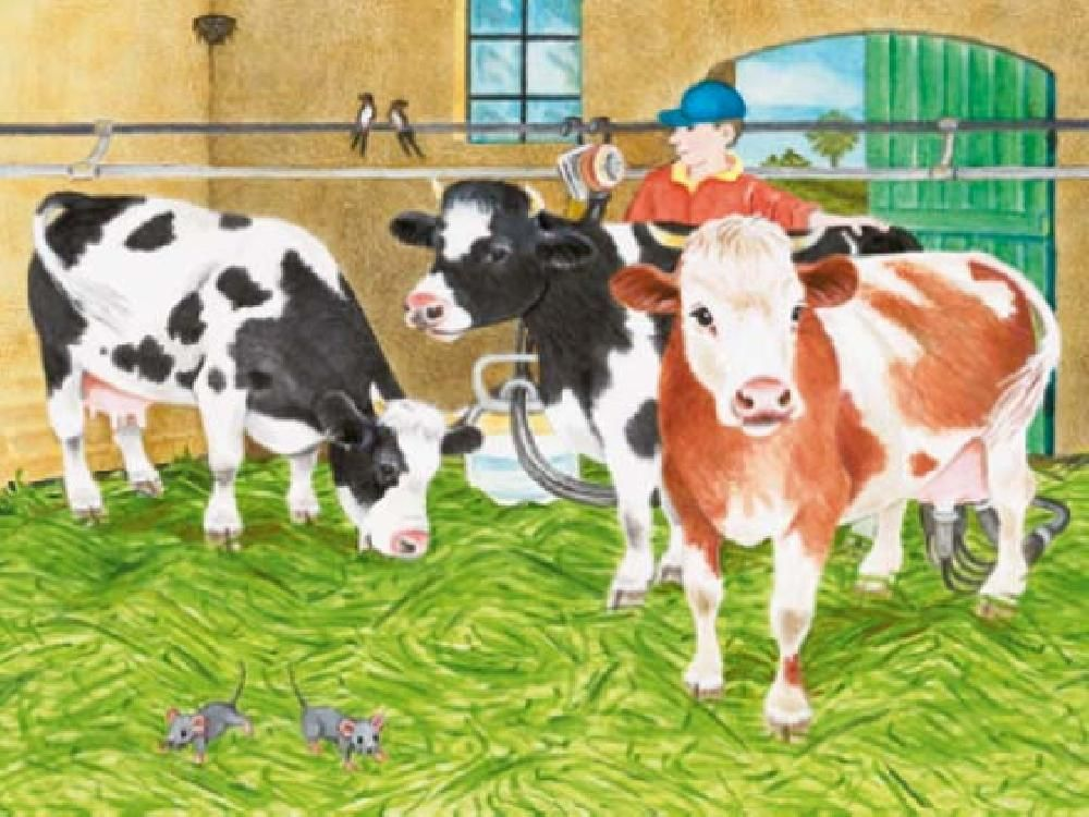 Praatplaat Koeien Farm Quilt Stuffed Animal Patterns Small Art