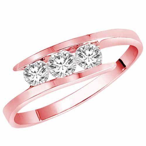 Round Diamonds In Pink Gold—Yummy!