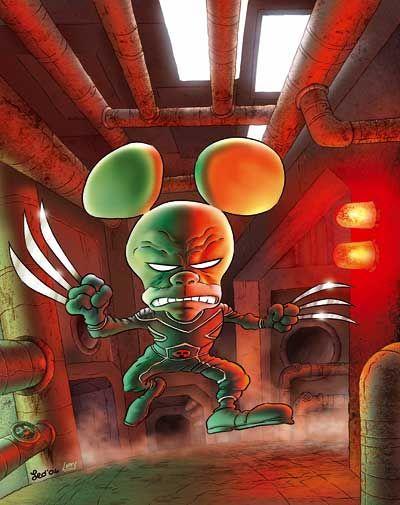 Leo Ortolani Copertina Tutto Rat Man 15 Colori Larry Fumetti Larry Manga