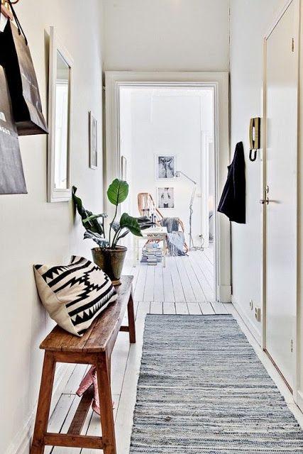 Cómo decorar pasillos estrechos \u2026 wystrój domu Pinterest