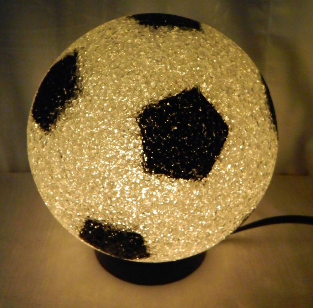 Soccer Ball Eva Lamp Night Light Sports Themed Kids Room Player White Black 7 Unbranded Themed Kids Room Night Light Kids Room