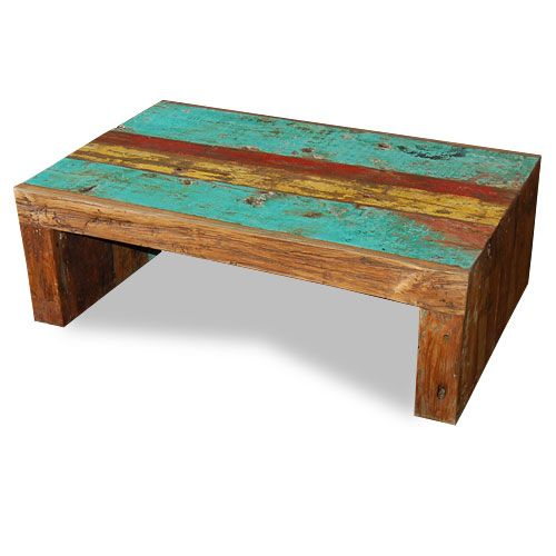 Reclaimed Boat Wood Coffee Table: Coffee Table U-Form Made From Reclaimed Boat Timber