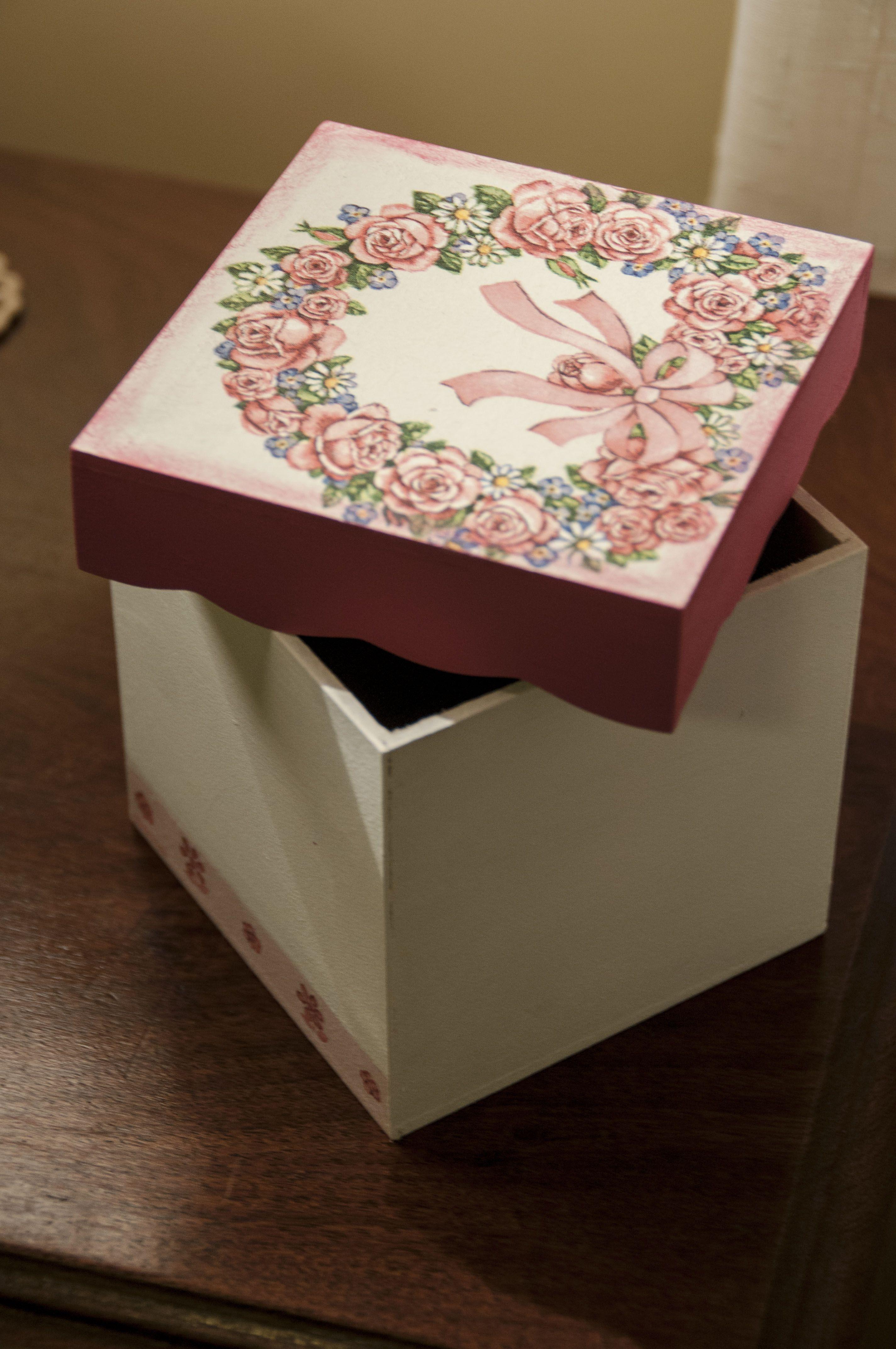 Caja flores.
