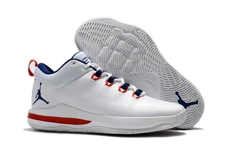 801b020118e Mens Nike Air Jordan CP3 X Basketball Blue White Shoes