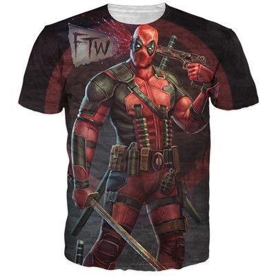 Deadpool T-Shirt Tees Men Women Tee / T-Shirt ( 3 styles ) ( to 4x- China Szing)