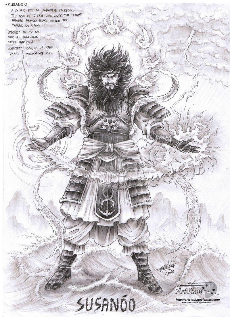 Susanoo By Artstain Mitologia Japonesa Dibujos Tatuaje Nordico