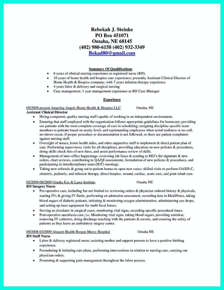 cool Inspiring Case Manager Resume to Be Successful in