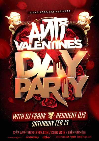 Anti Valentines Day Flyer Template  HttpsFfflyerComAnti