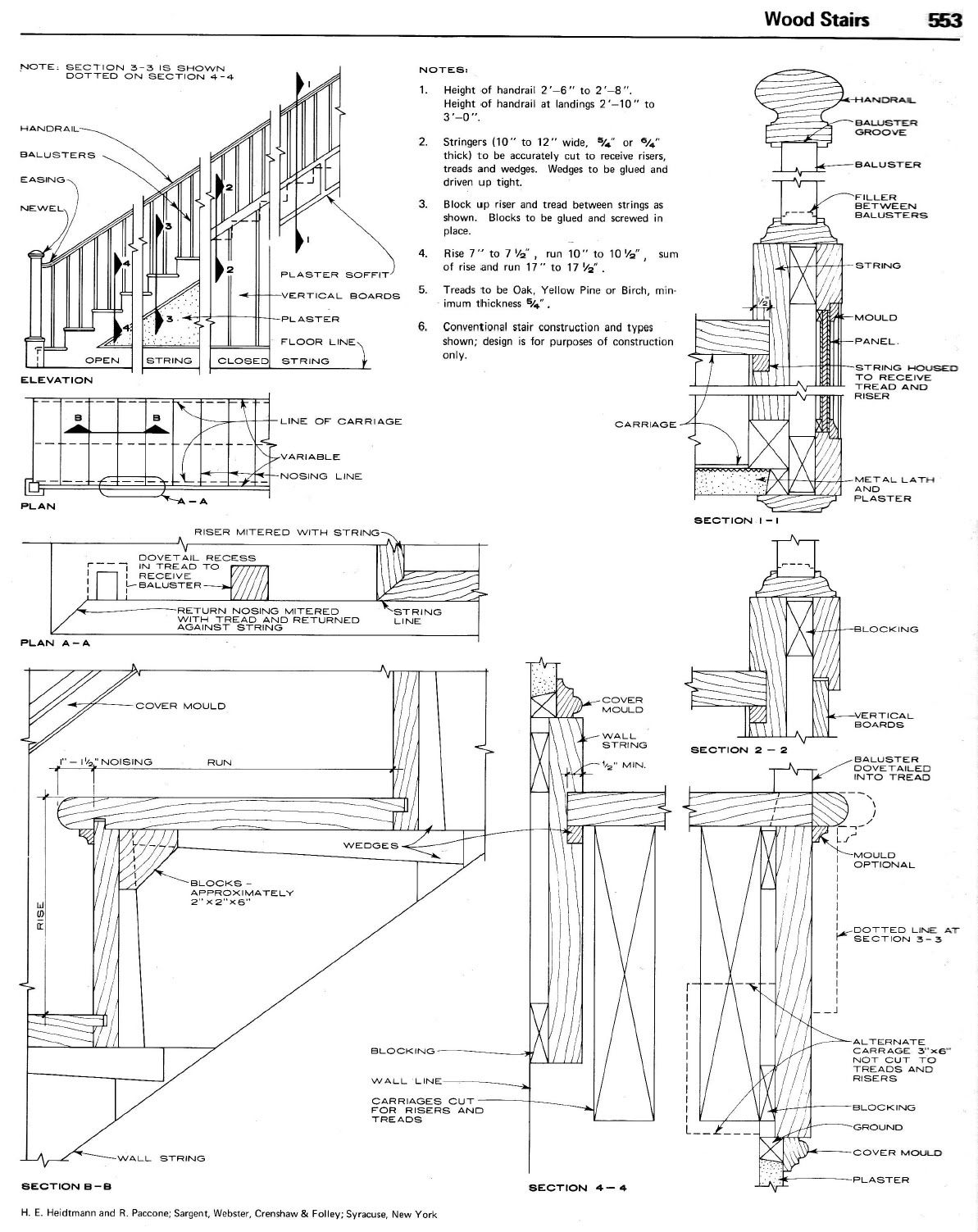Staircase Plans Drawing Twisted Handrails Old Stair Drawings In 2019 Pinterest