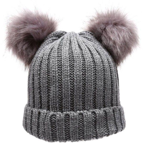 b1d403aeeaf Women s Winter Chunky Knit Double Pom Pom Beanie Hat With MIRMARU Hair... (