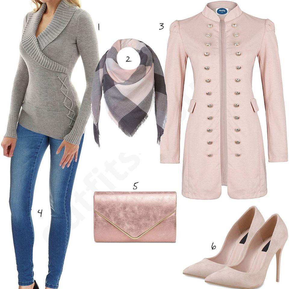 Damenoutfit Mit Rosa Blazer Clutch Und Pumps Outfit Jeansjacken Outfits Und Rosa Blazer
