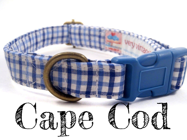 "20/"" MED DOG CHOKER.FREE SHIP USA COASTAL NYLON CHECK CHOKE COLLAR BLUE 3//4/"" 14/"""