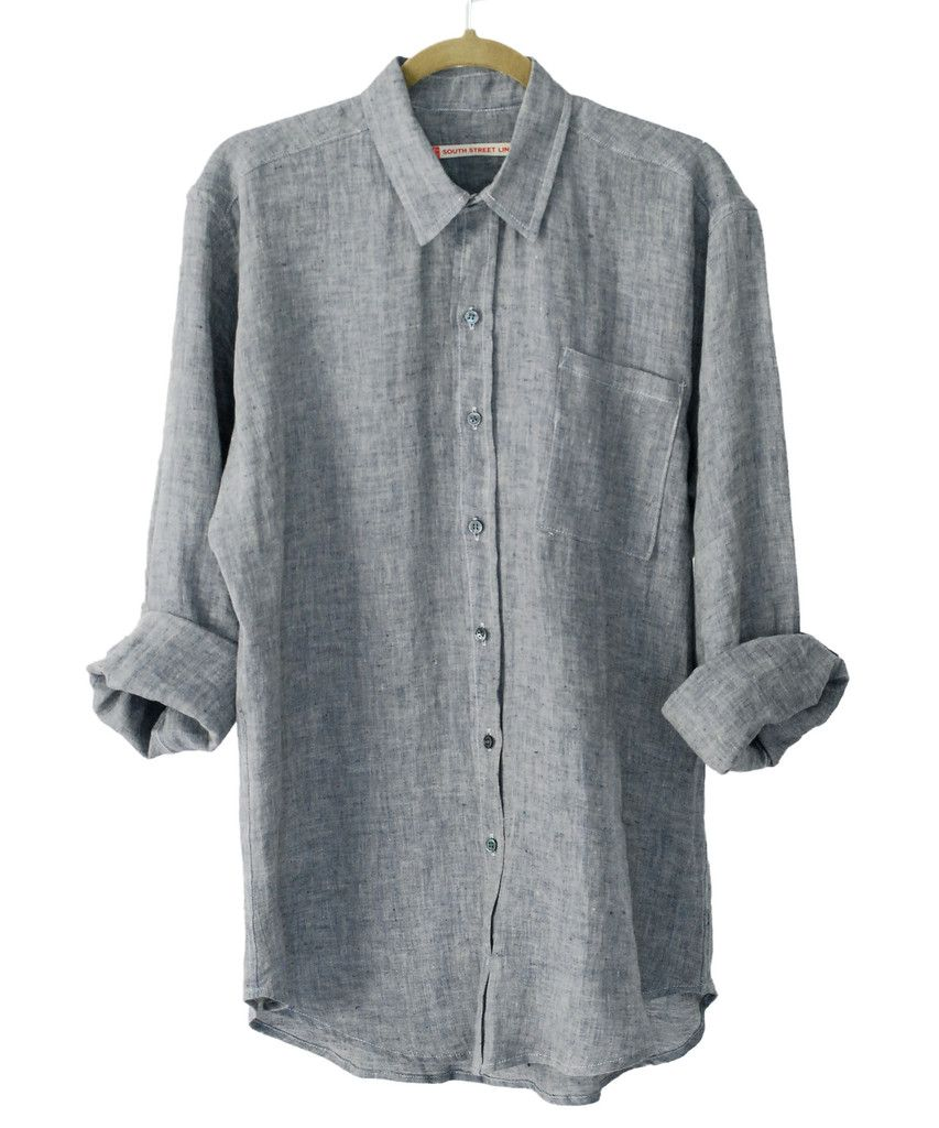 181---Men's Linen Shirt, Long Sleeve Top, Made to Order, S M L XL XXL.