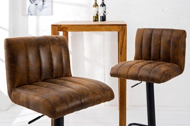 Super Angesagter Design Barhocker PORTLAND vintage braun Barstuhl ...