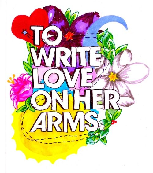 i'm supporting:  to write love on her arms. be strong.
