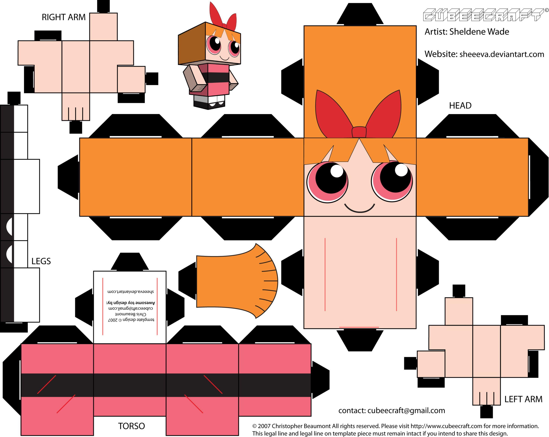 Moldes de paper toy para montar voce mesmo  6bd5ce8395d