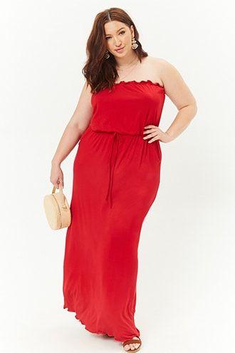 Plus Size Tube Maxi Dress | Products | Tube maxi dresses, Dresses ...