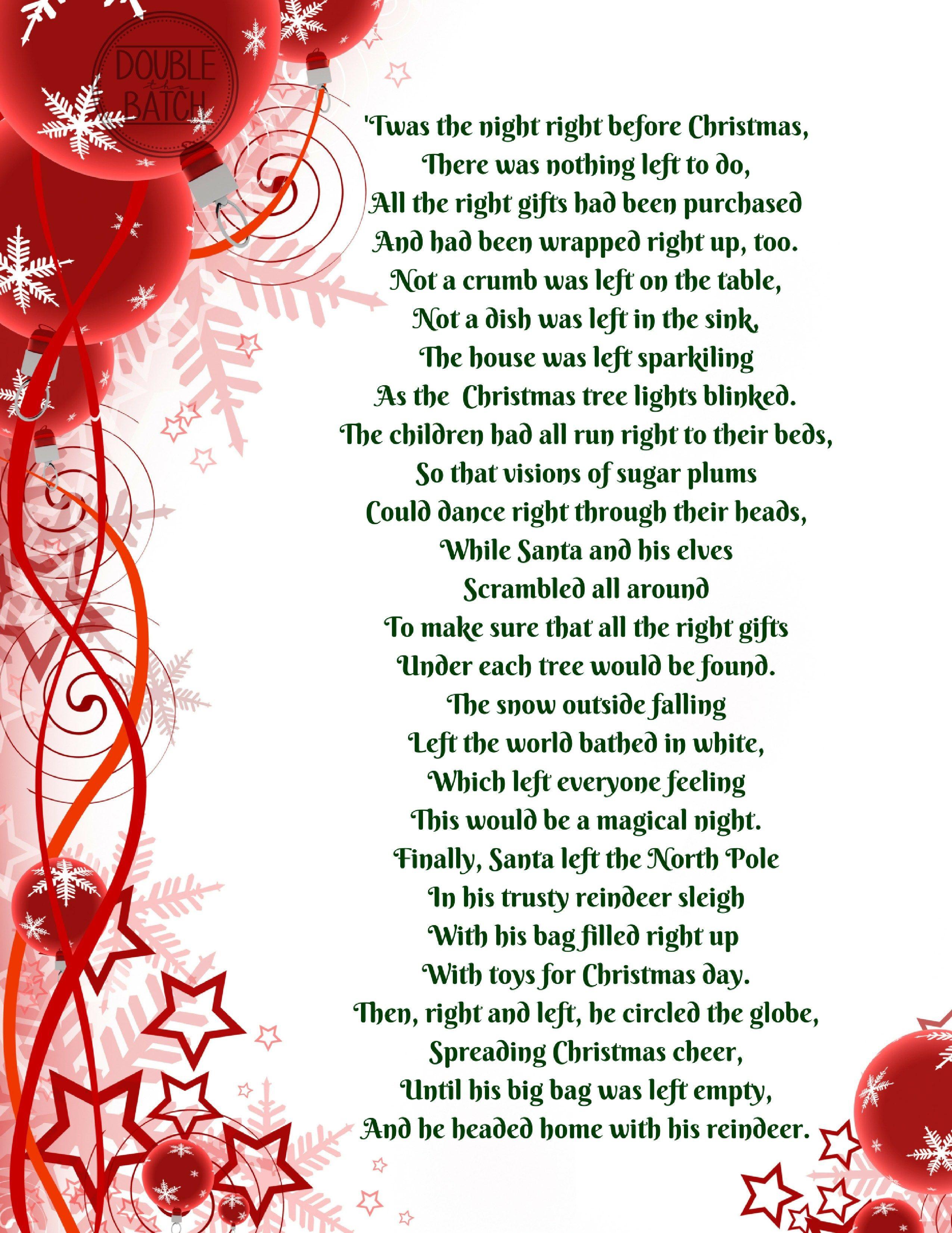 Left right gift exchange christmas poem