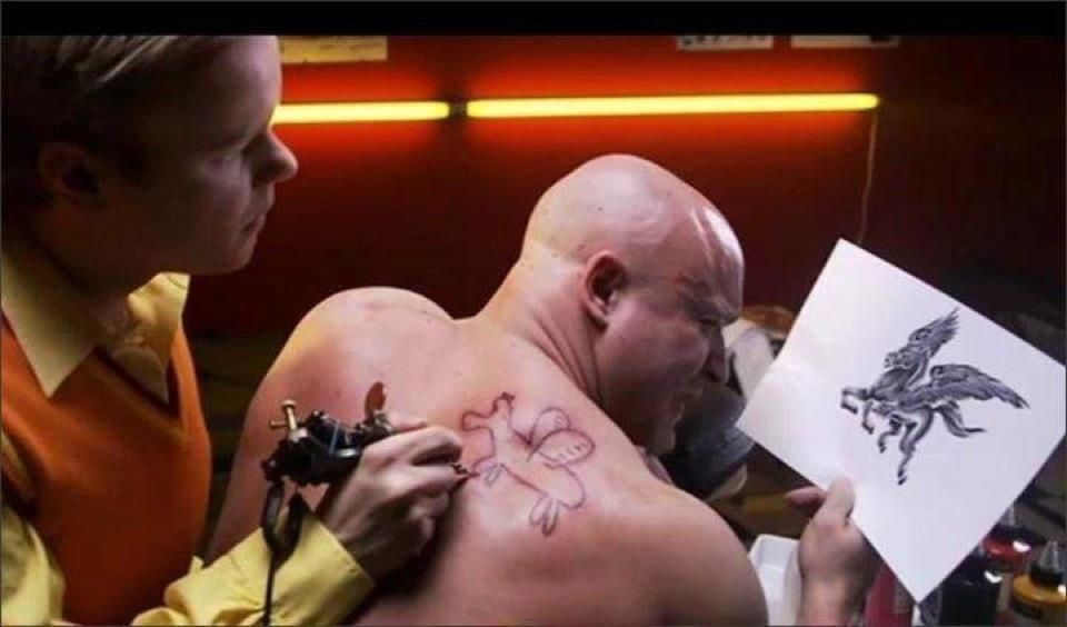 Freehand tattoo artist fail