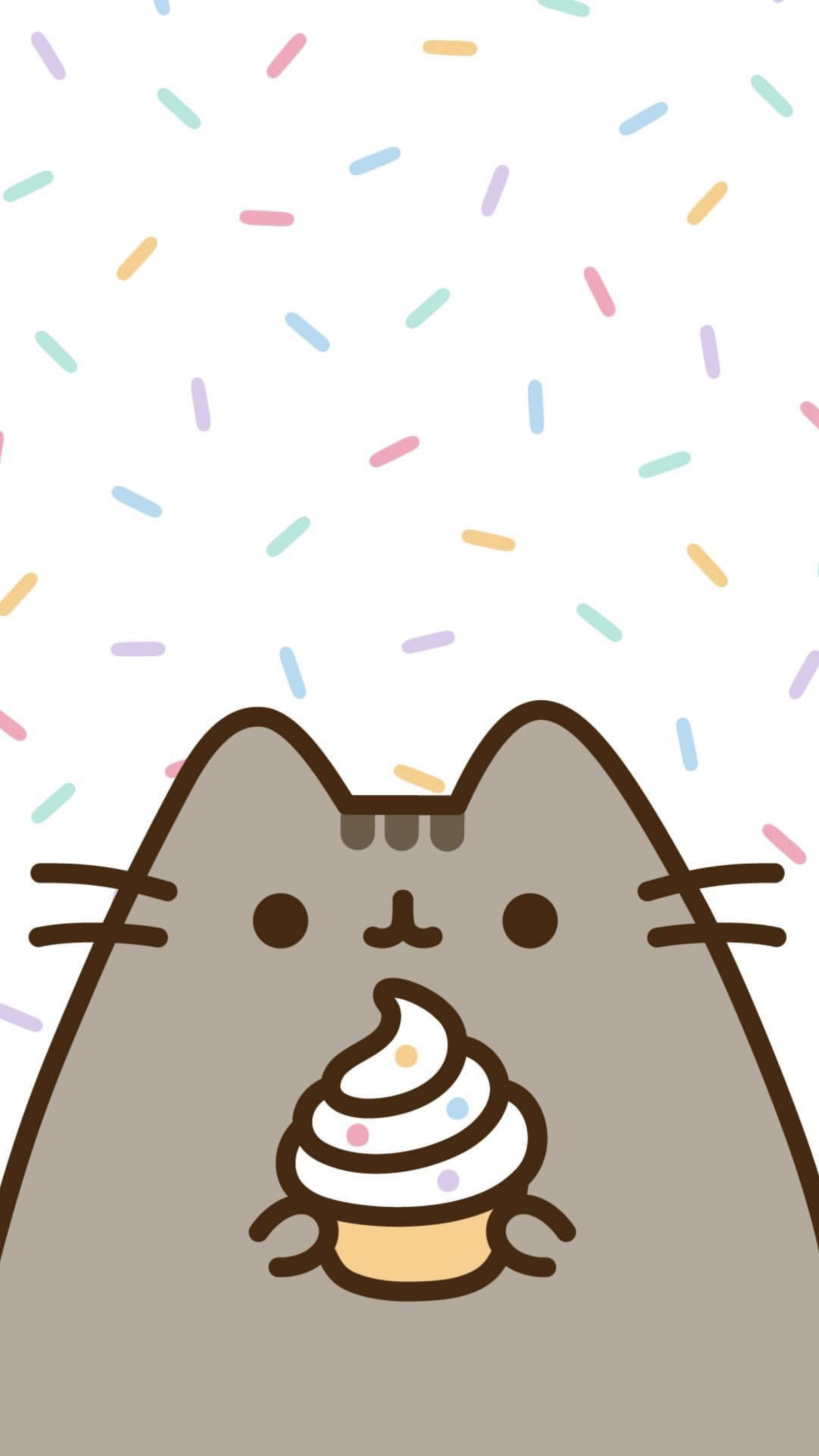 Pusheen The Cat Iphone Wallpaper Cute Wallpapers