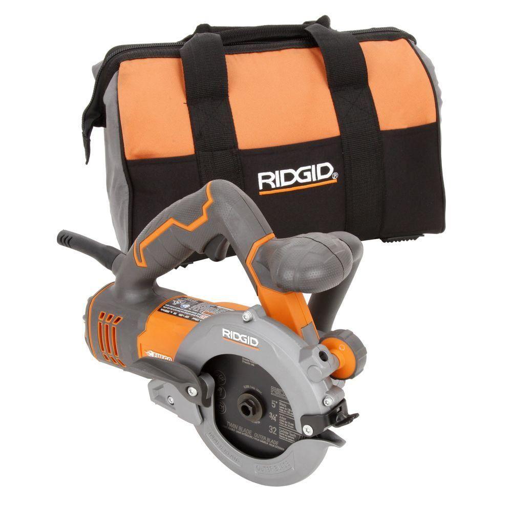Ridgid 5 In Twin Blade Circular Saw R3250 At The Home Depot Circular Saw Cool Gear Baby Car Seats