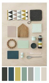Idées ambiance et couleur pour chambre d'amis - sol résine écru, murs verts