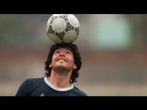 Diego Maradona Freestyle Skills Warm Up Rare Footage