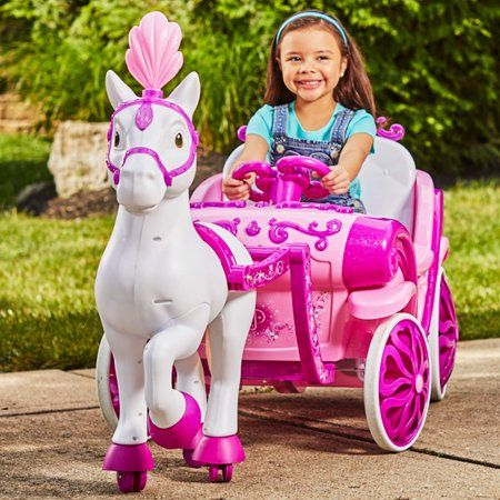 322b5a60c Disney Princess Royal Horse and Carriage Girls 6V Ride-On Toy by Huffy
