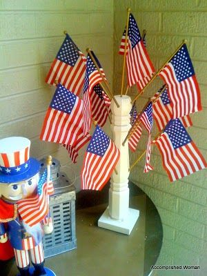 Crafting A Flag Centerpiece With Images Crafts