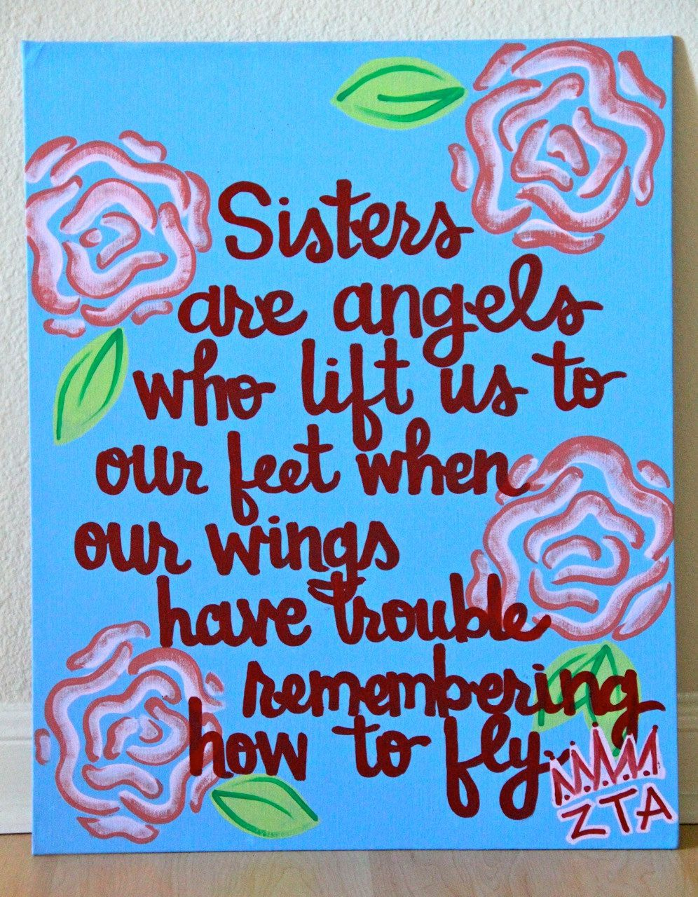 Sisters Are Angels Canvas Painting 11X14 2800 Via