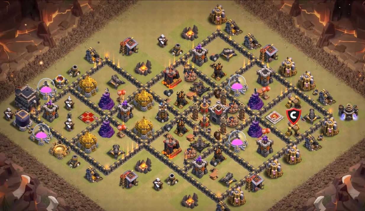 Anti Everything Best Th9 War Base 2019 8