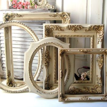 Large Antique Cream and Gold Vintage from WillowsEndCottage on ...