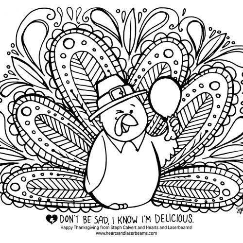 Free Turkey Coloring Pages for Thanksgiving - illustration ...