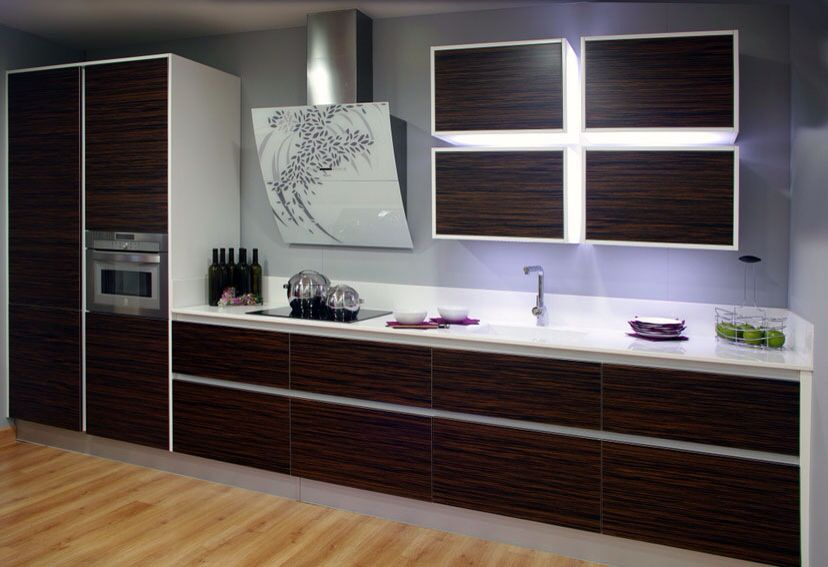 Muebles de cocina en Madrid de madera tropical www ...