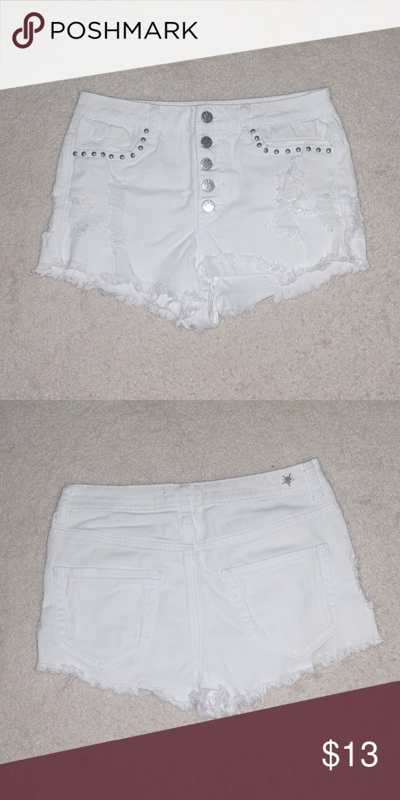 e27d79099862 Shorts White, 90% cotton, 2% spandex, made in china Rue21 Shorts Jean Shorts