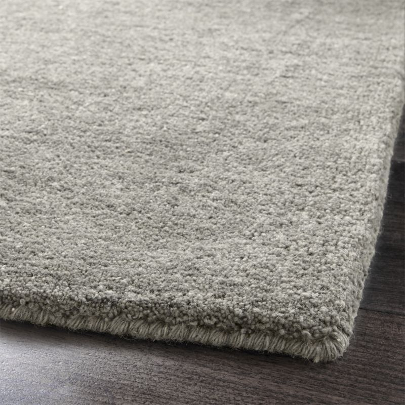 Baxter Grey Wool Rug 8x10 Reviews Crate And Barrel Dining