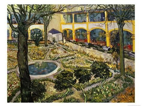 Giclee Print Garden Of The Hospital At Arles By Vincent Van Gogh