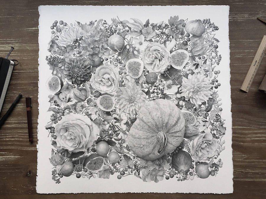 Autumn Illustration Made of 7 Million Inked Dots