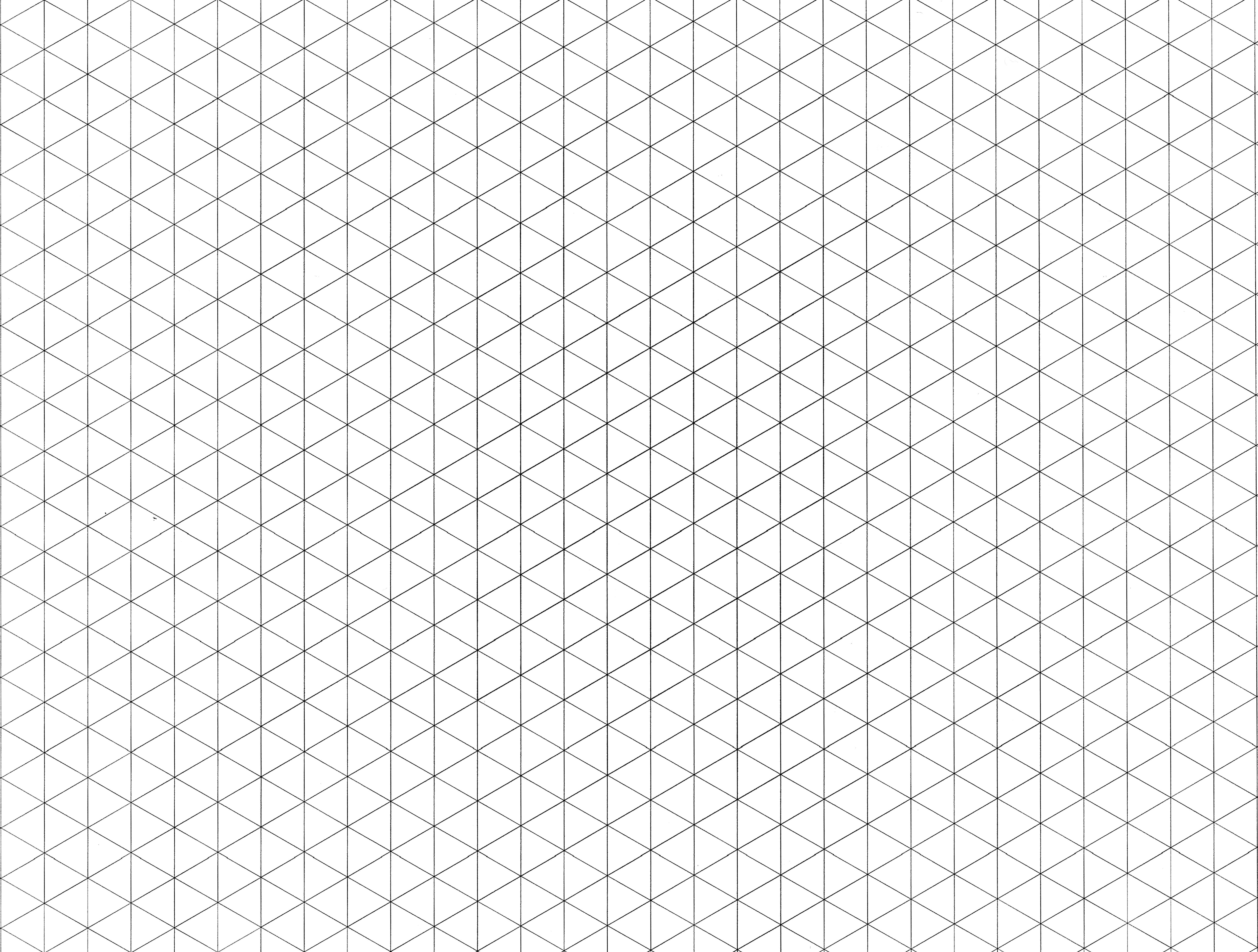 Isometric Grid Paper Drawings