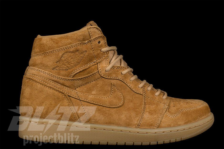 Air Jordan 1 Retro Hi Og Wheat Size 8 13 Golden Harvest 555088 710