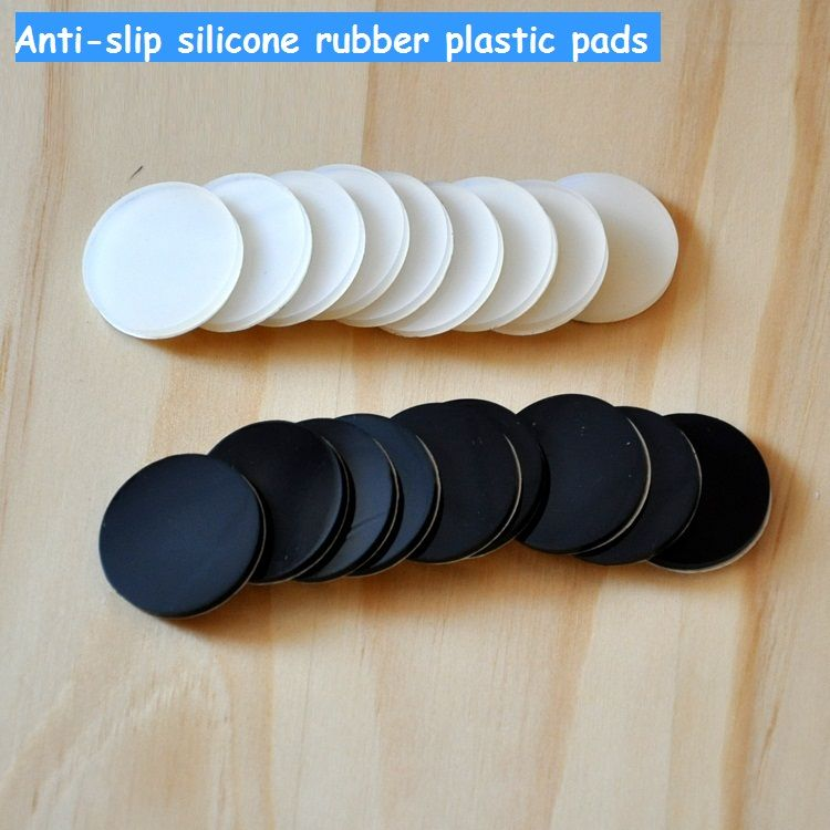 30mm Anti Slip Silicone Rubber Plastic Furniture Feet Pads 3M Self Adhesive  Non Slip