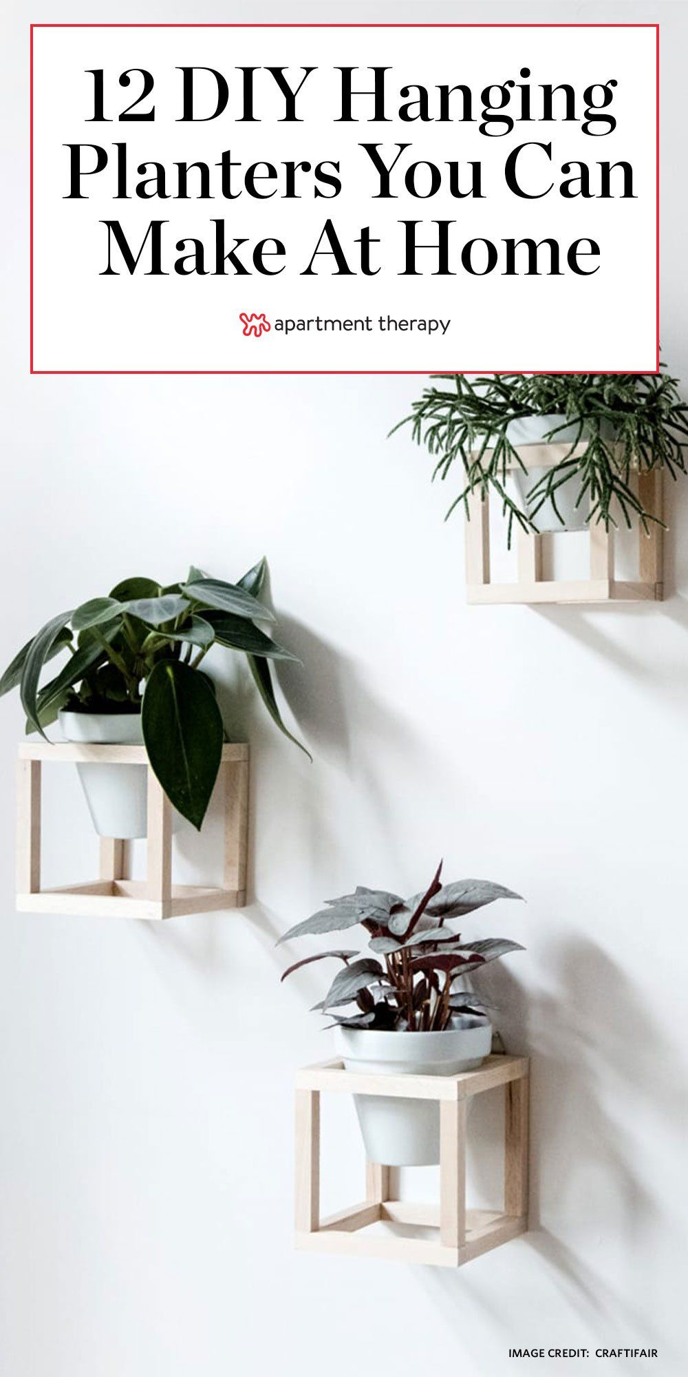 Hanging Planters You Can Make Yourself is part of Hanging planters, Diy hanging planter, Diy hanging, Diy planters, Planters, Diy furniture projects - Because we know you want plants EVERYWHERE  (We do, too )