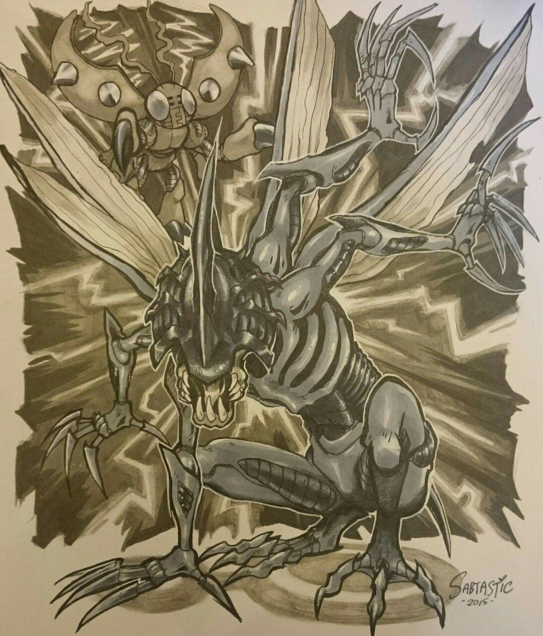 Kabuterimon Digimon commission in Copic