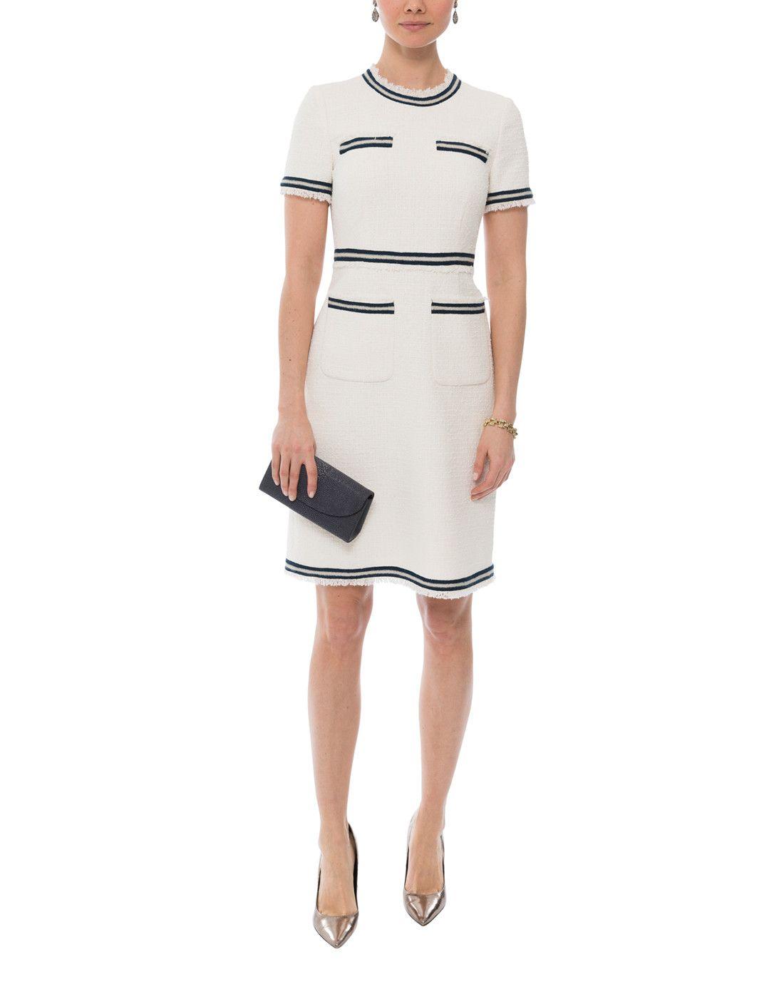 a57cd87e444 Susanna Cream Tweed Dress