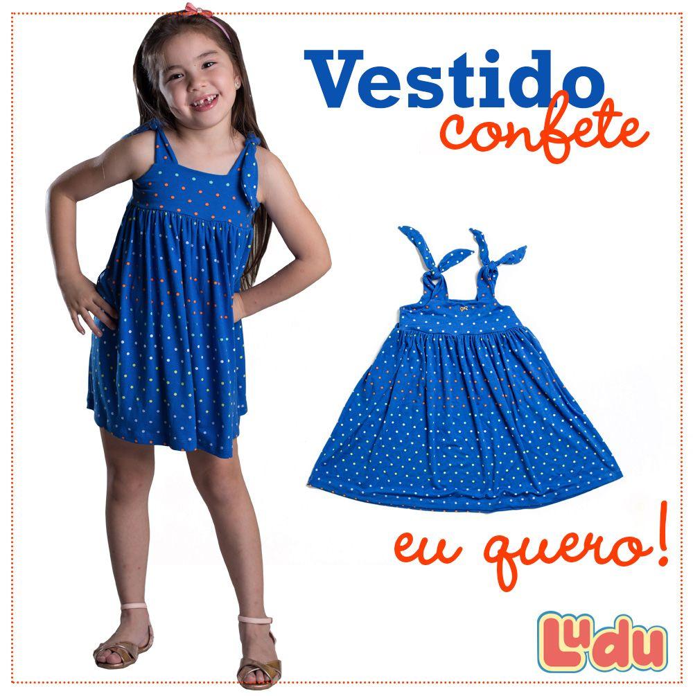 Loja Ludu, coleção 2014, vestido colorido Confete. Moda para meninas. #moda #menina #fashion #kids #girls #vestido #dress Compre pelo site: www.ludu.com.br