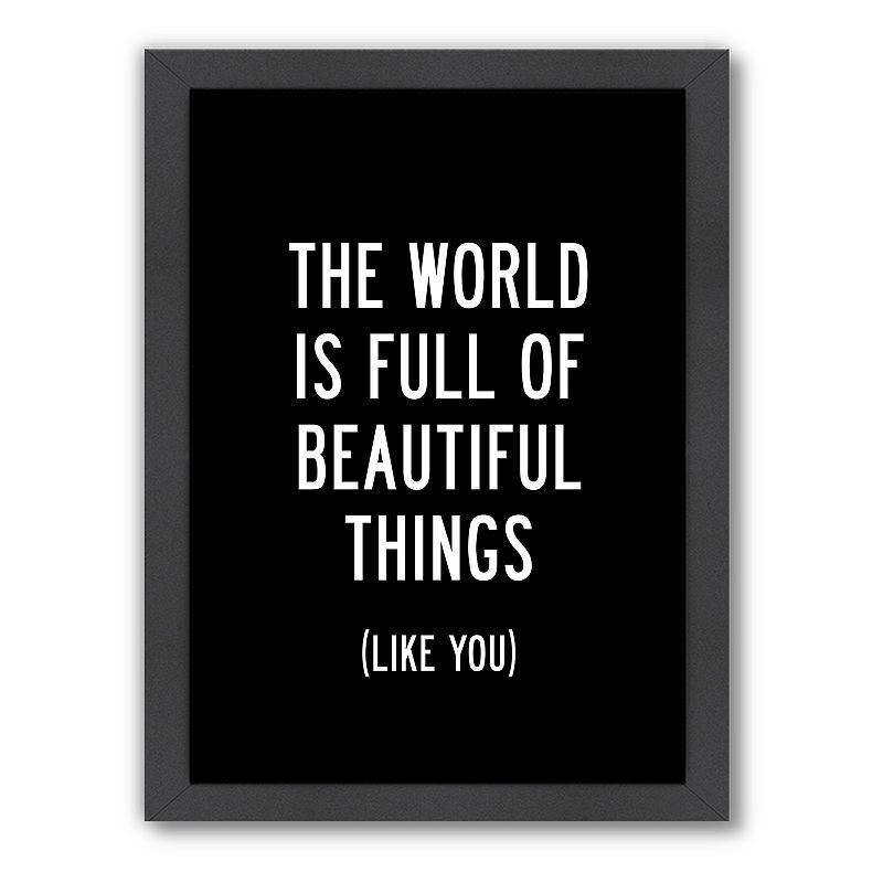 Americanflat Motivated Type ''Beautiful Things'' Typography Framed Wall Art