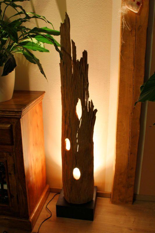 xl stehlampe teak treibholz schwemmholz antik shabby lampe. Black Bedroom Furniture Sets. Home Design Ideas
