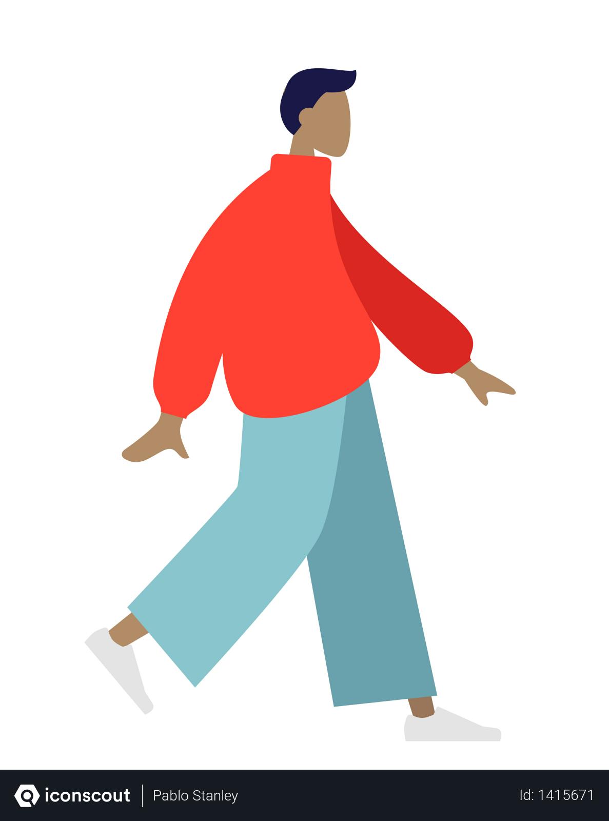 Free Walking Man Illustration Download In Png Vector Format Man Illustration Walking Man Illustration